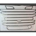 Scania* Maske Edelstahl R2 Lüftungsgitter-Rahmen