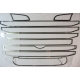 Scania Maske Edelstahl R2 Lüftungsgitter-Rahmen