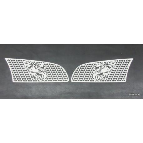 Scania* Maske Lüftungsgitter-Satz in Weiß