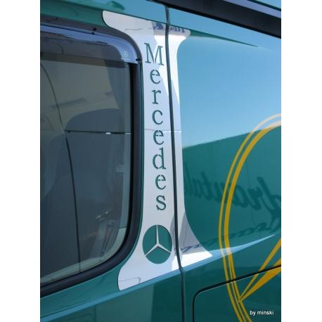 Mercedes* MB4 B-Säule mit Logo und Schriftzug