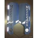 Mercedes* MB4 Spiegel Applikation mit Logo und LED-Öffnung