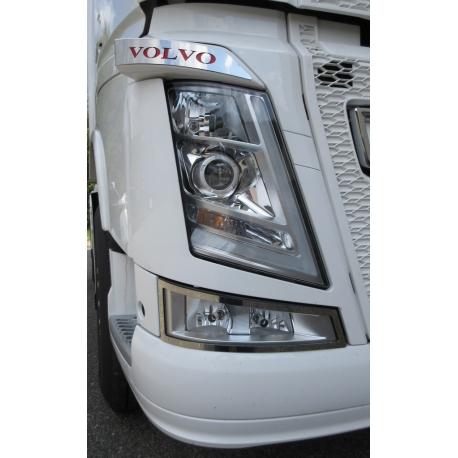 Volvo* FH4 Blinker Applikation Edelstahl mit Schriftzug
