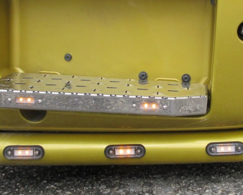 Scania Frontbügel Eckteile Rohr 70mm, Edelstahlaufstiege